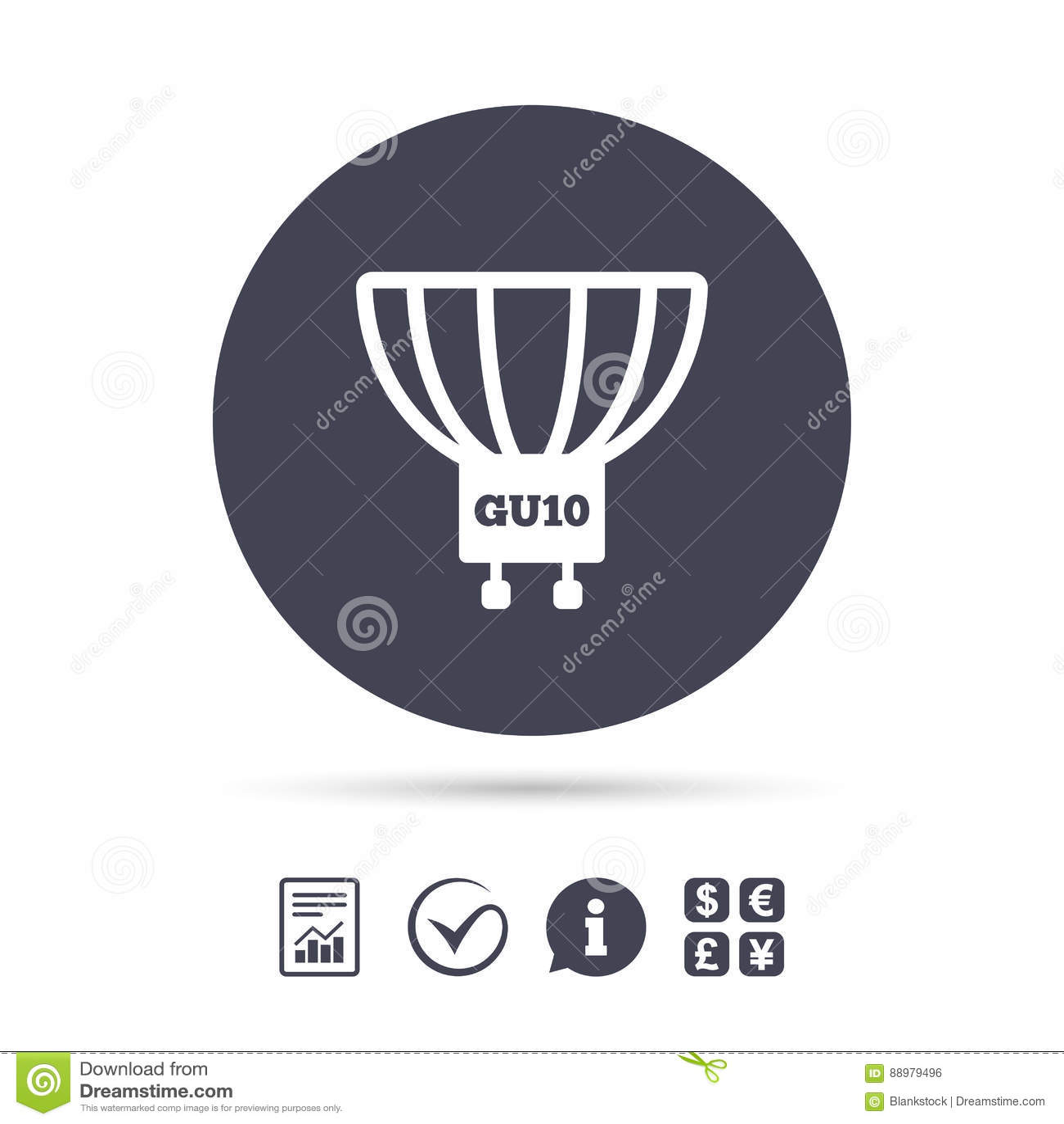 Light Bulb Icon. Lamp GU10 Socket Symbol. Stock Vector ...