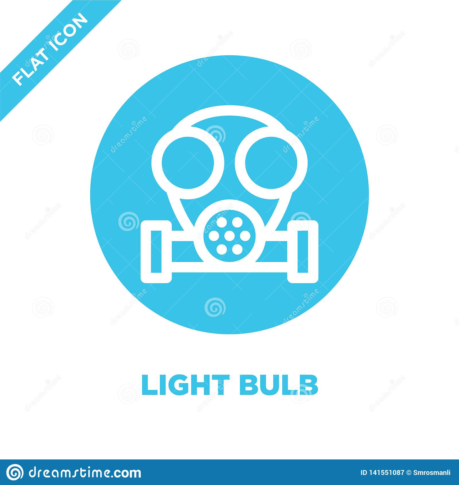 light bulb icon vector. Thin line light bulb outline icon vector illustration.light bulb symbol for use on web and mobile apps,