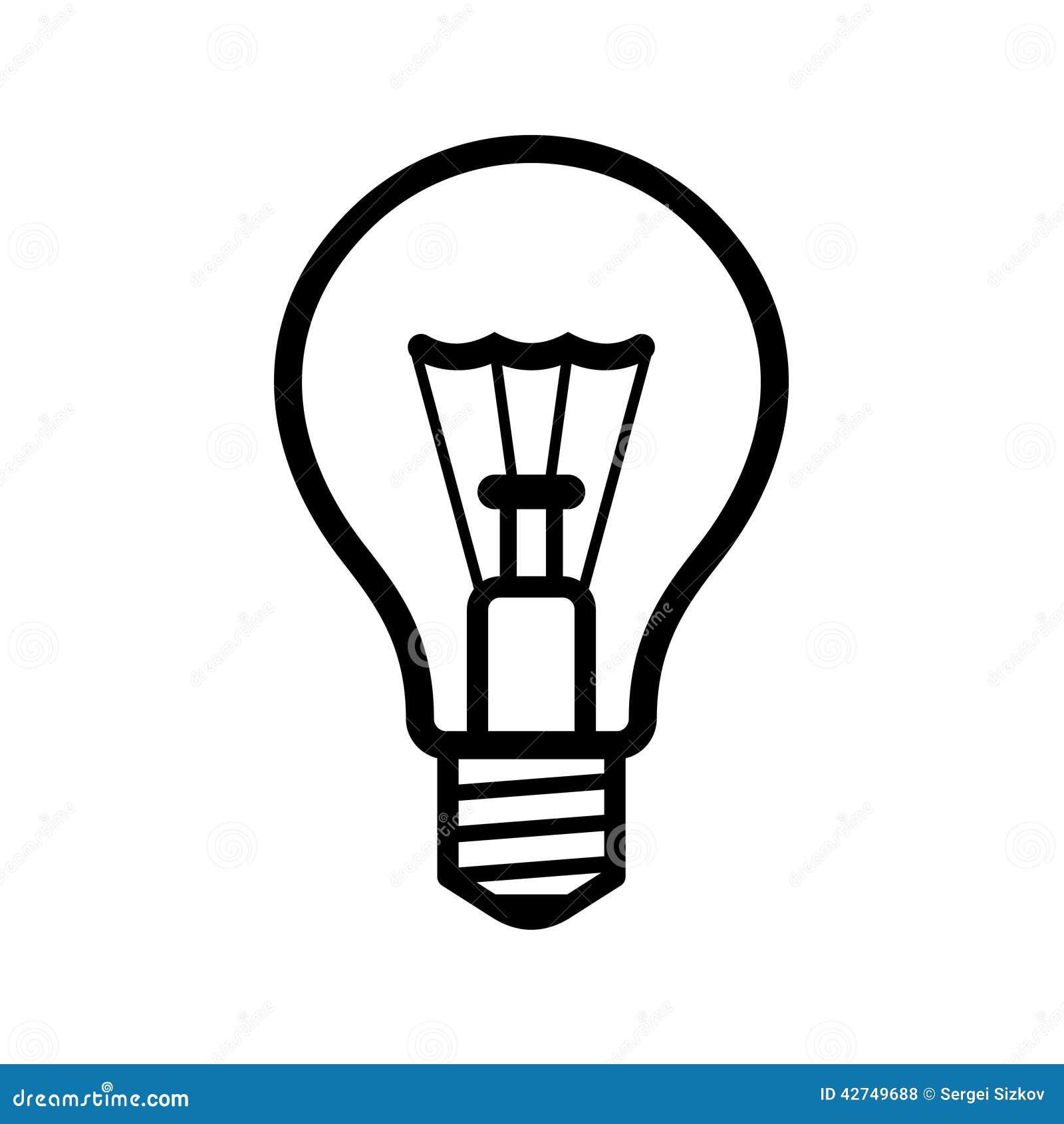 light bulb icon on white background vector stock vector Planet Clip Art Planet Earth Art