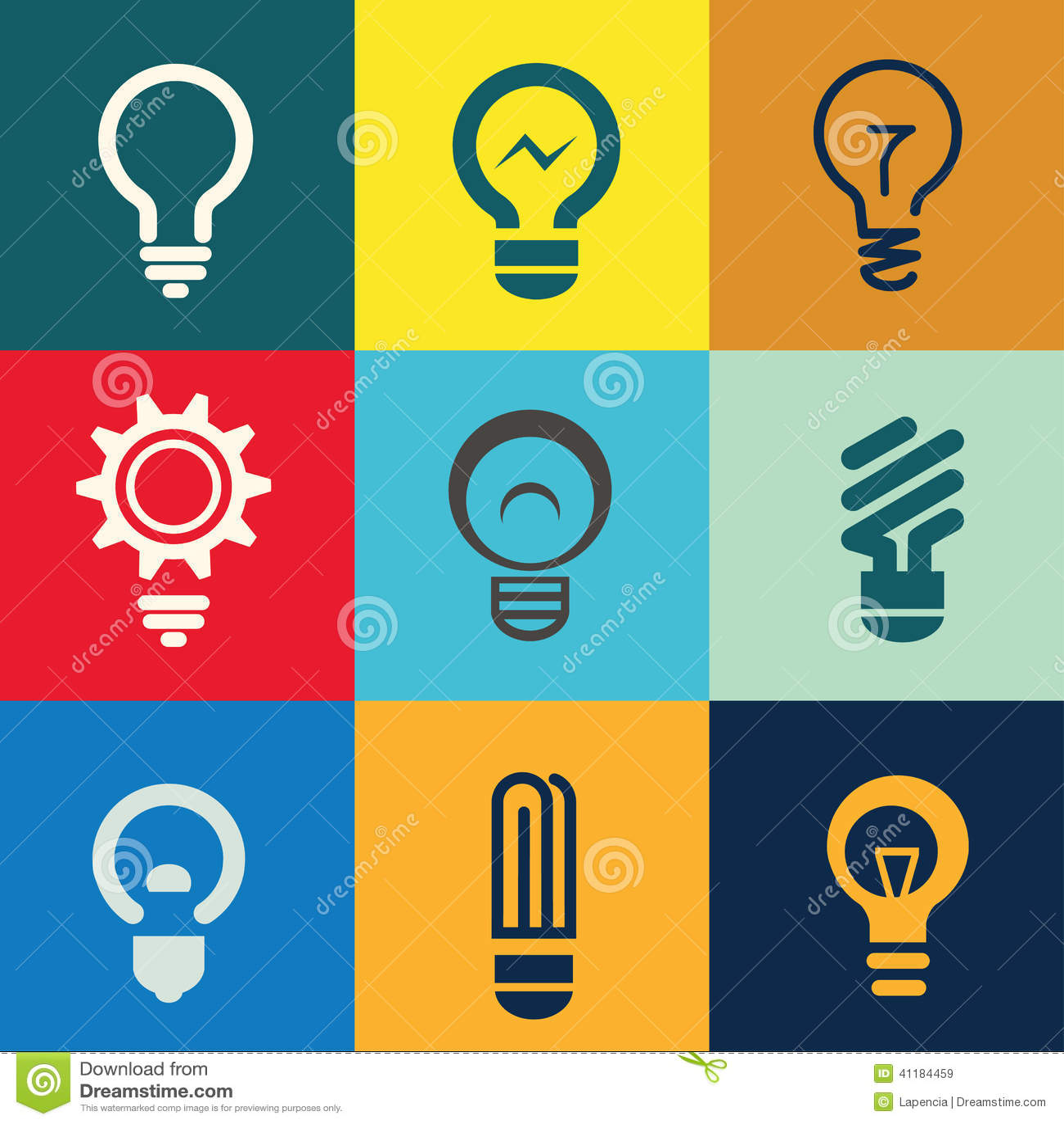 High Quality Light Bulb Icons Set