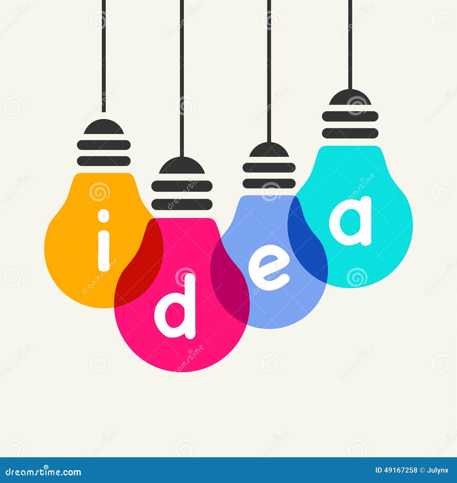 Light Bulb Idea Stock Vector