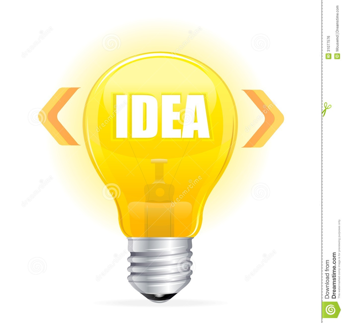 Light Bulb Idea Concept Template Royalty Free Stock Image - Image ...