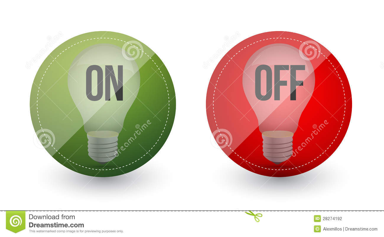 Light Bulb Idea On And Off Stock Illustration Illustration Of