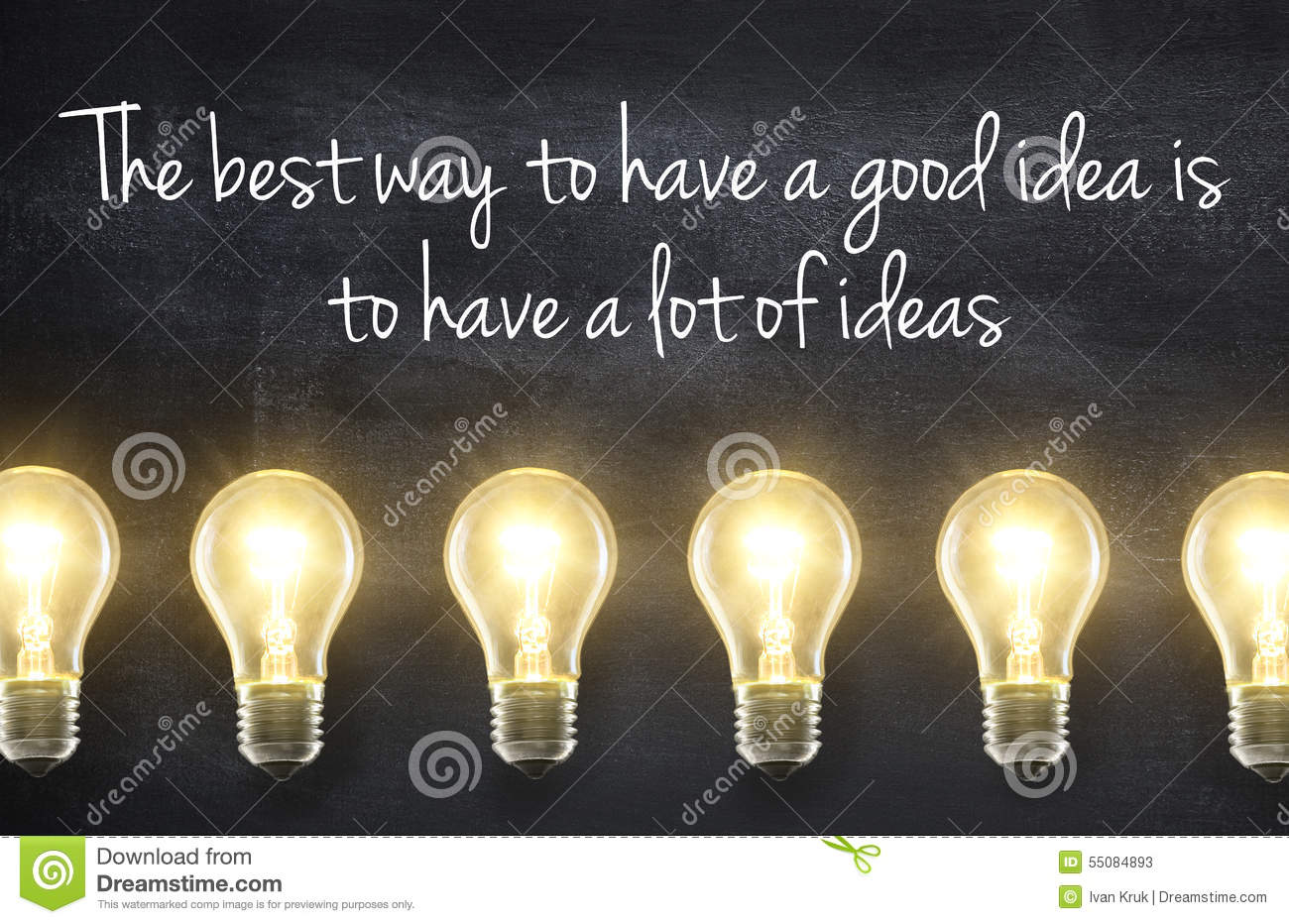 Idea Quotes: Light Bulb With Idea Quote Stock Photo