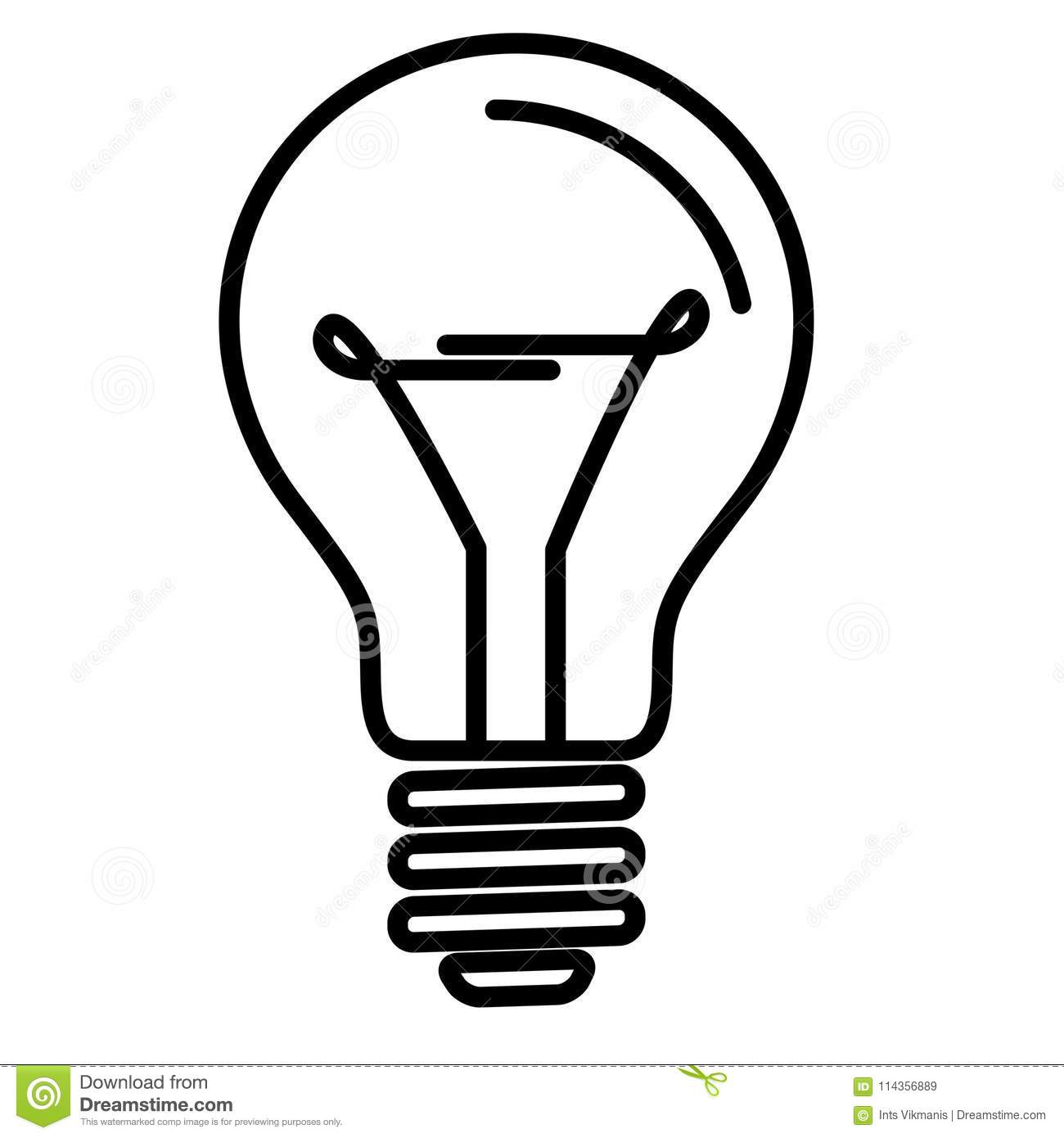 Light Bulb Lamp Stock Vector Illustration Of Graphic 114356889