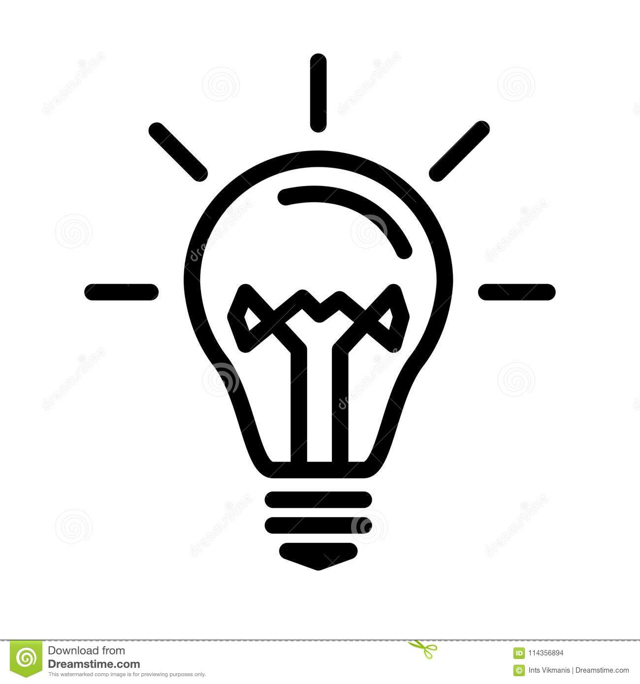 Light Bulb Lamp Stock Vector Illustration Of Brainstorming 114356894
