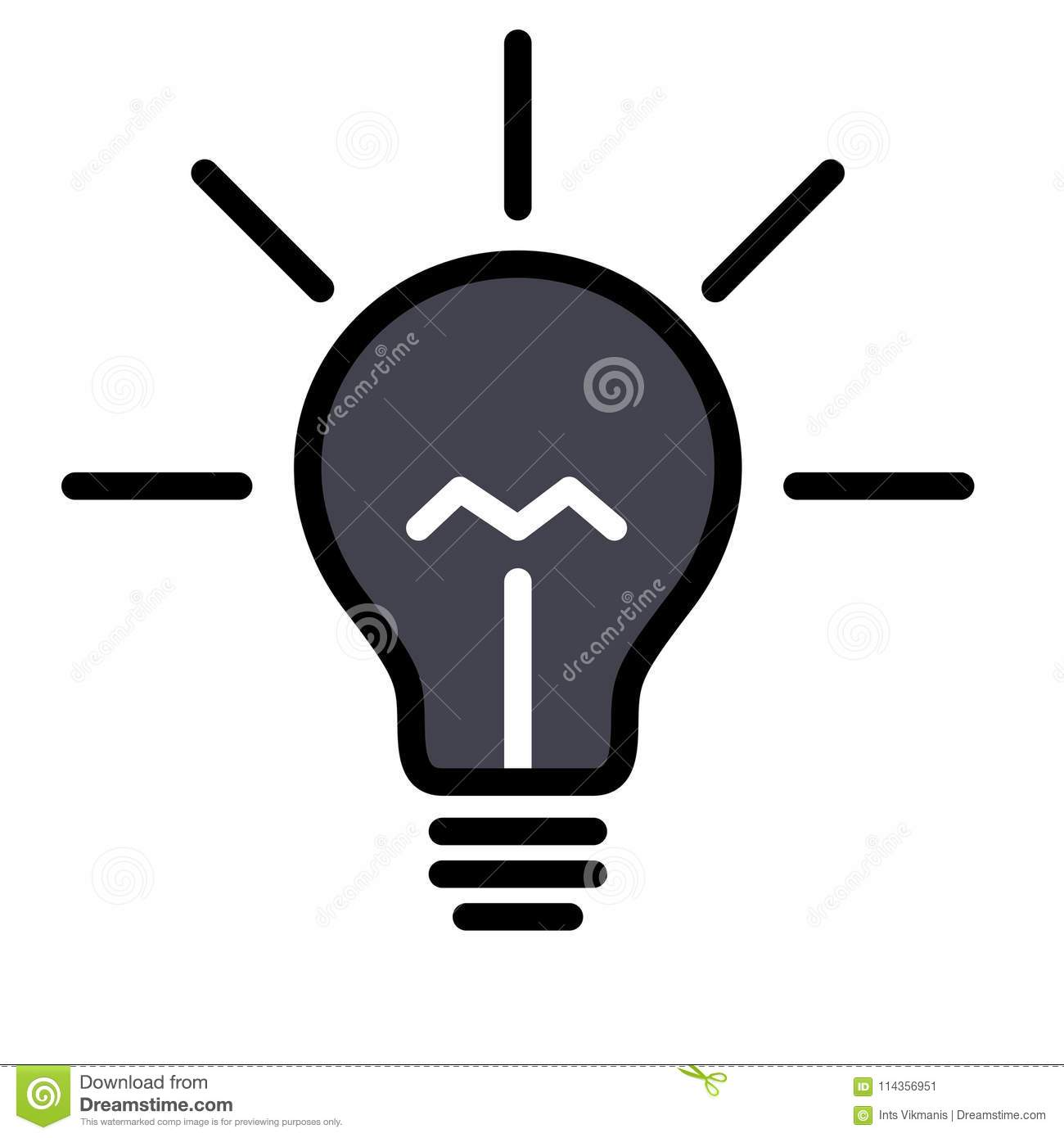 Light Bulb Lamp Stock Vector Illustration Of Icon Imagination