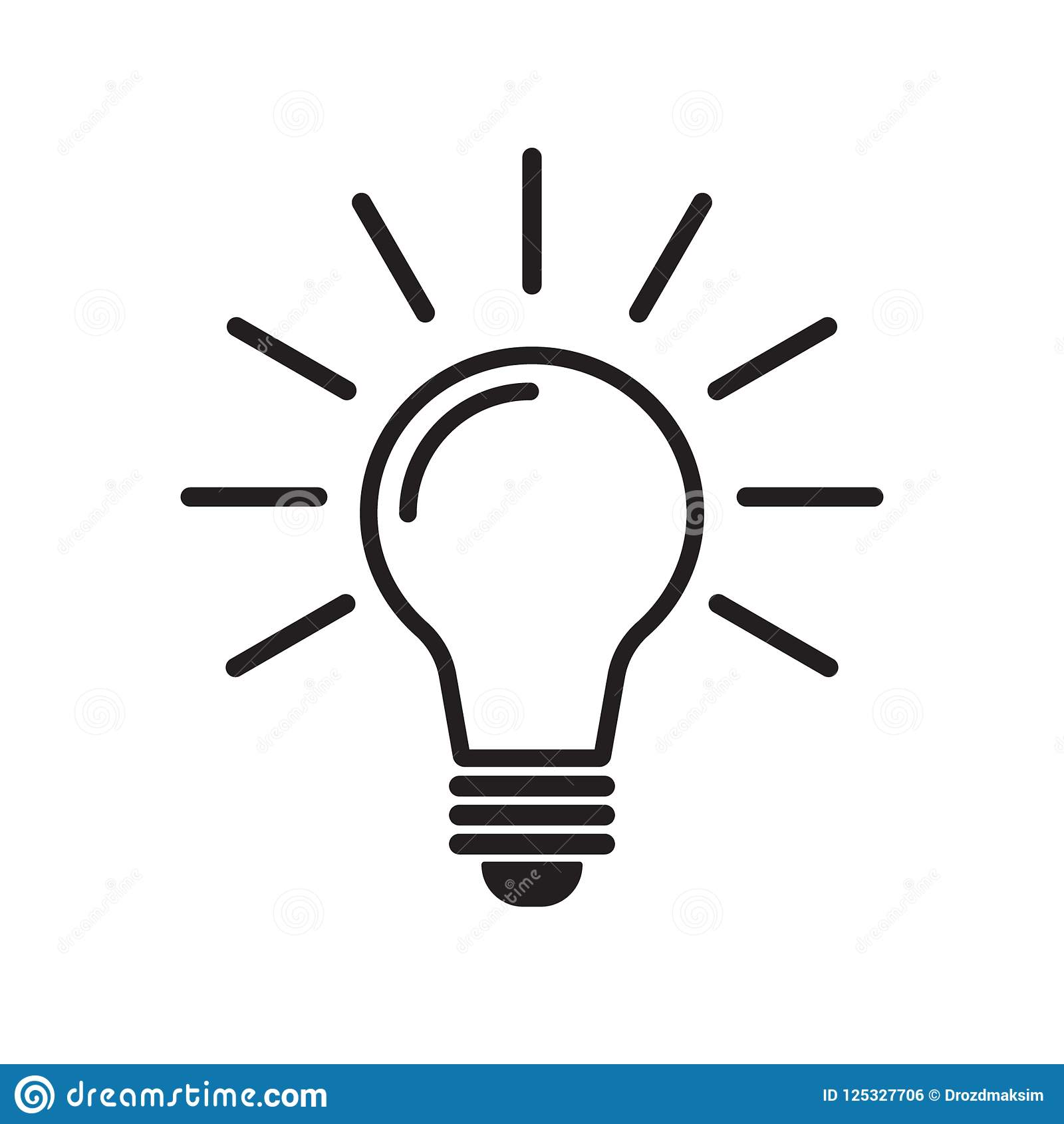 light bulb line icon vector idea icon idea sign solution stock