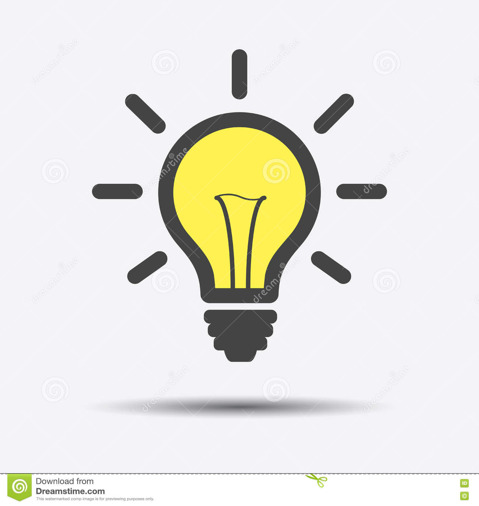 Bulb Light Isolated Icon Stock Illustration ...