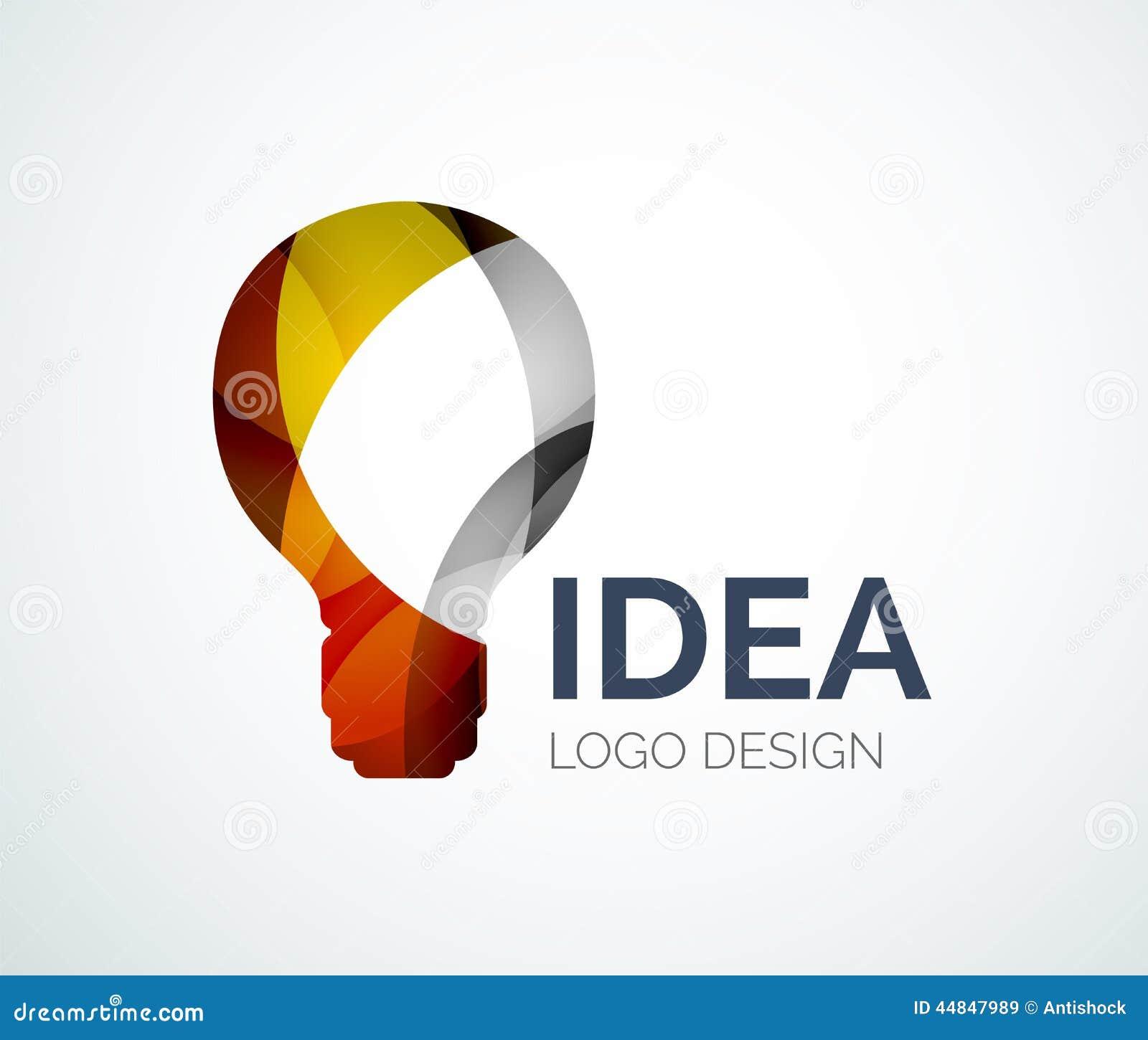 Cymk Puzzle Light Bulb Logo Design Made Of Color Pieces Stock Vector