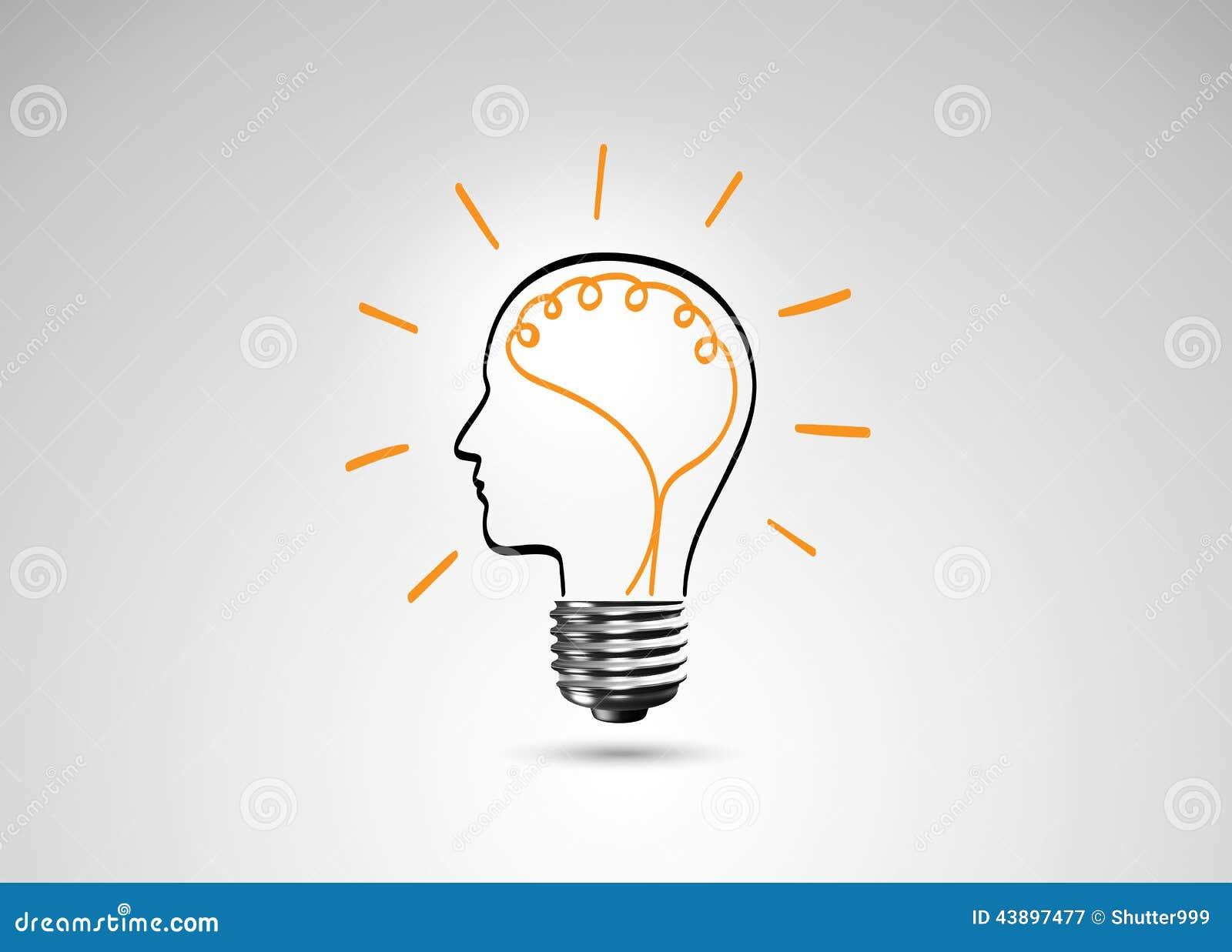 Light Bulb Metaphor For Good Idea Stock Photo Image 43897477
