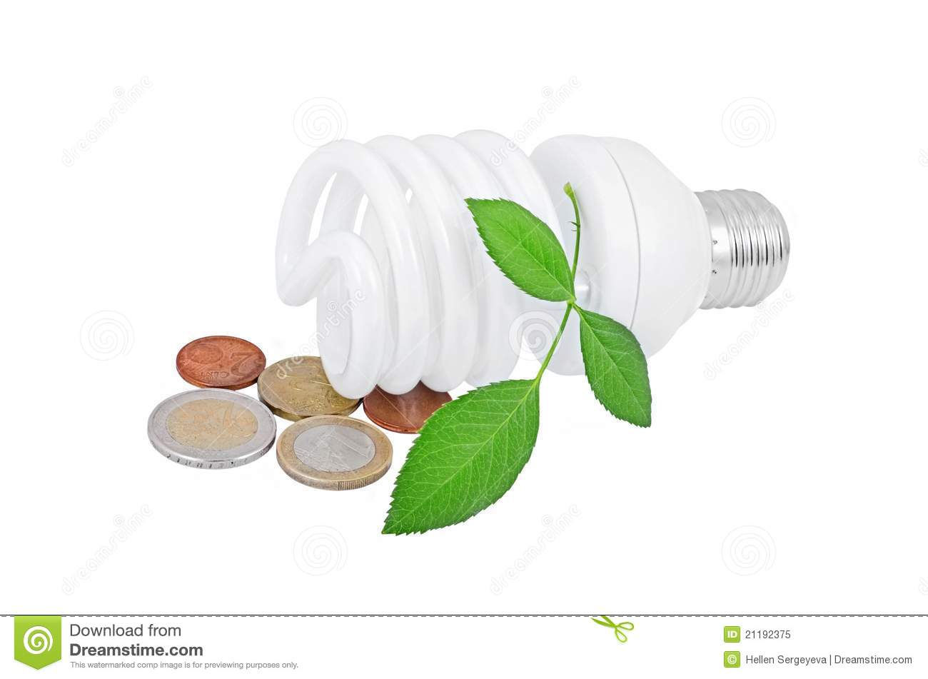 Light bulb and money