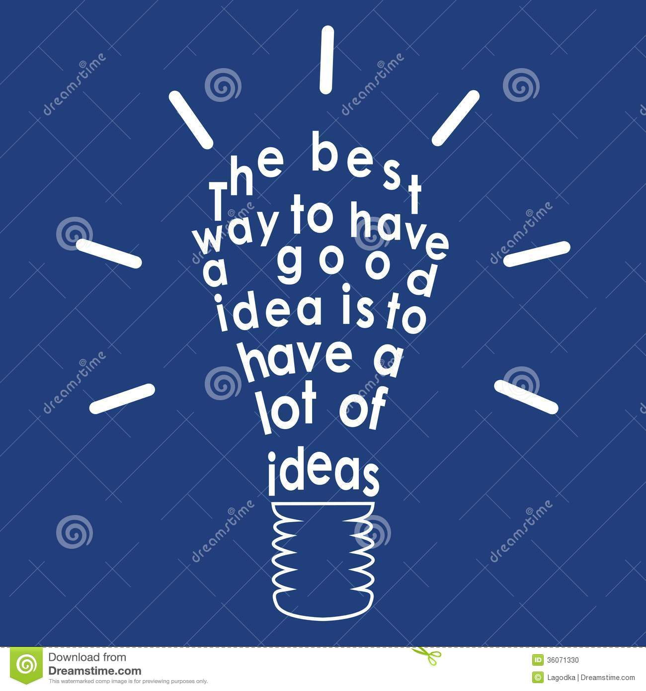 Quotes Light Light Bulb With A Quotevector Stock Vector  Image 36071330