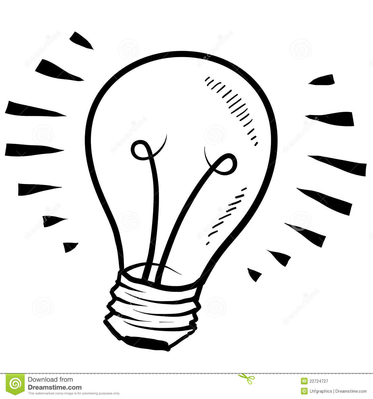 Set Of Hand Drawn Light Bulbs Symbol Of Ideas Stock: Light Bulb Sketch Royalty Free Stock Photography