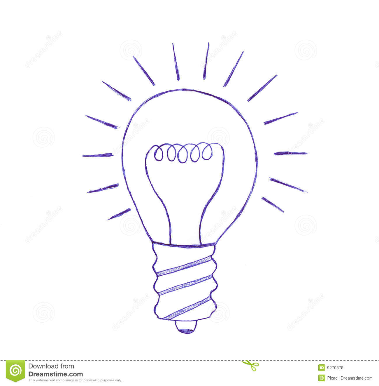 Light Bulb Sketch Royalty Free Stock Photos - Image: 9270878