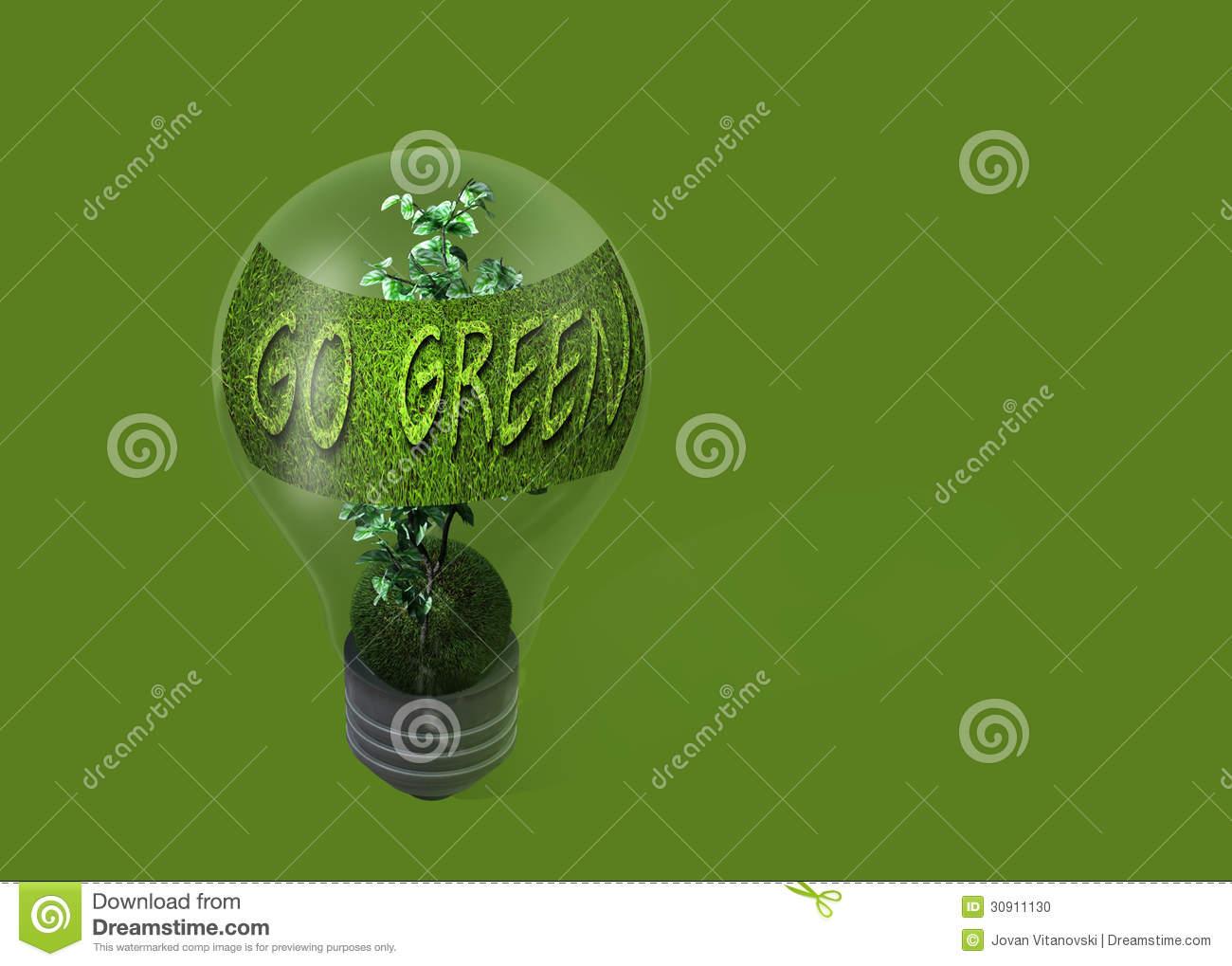 Light bulb with text go green stock photo image 30911130 - What goes with light green ...