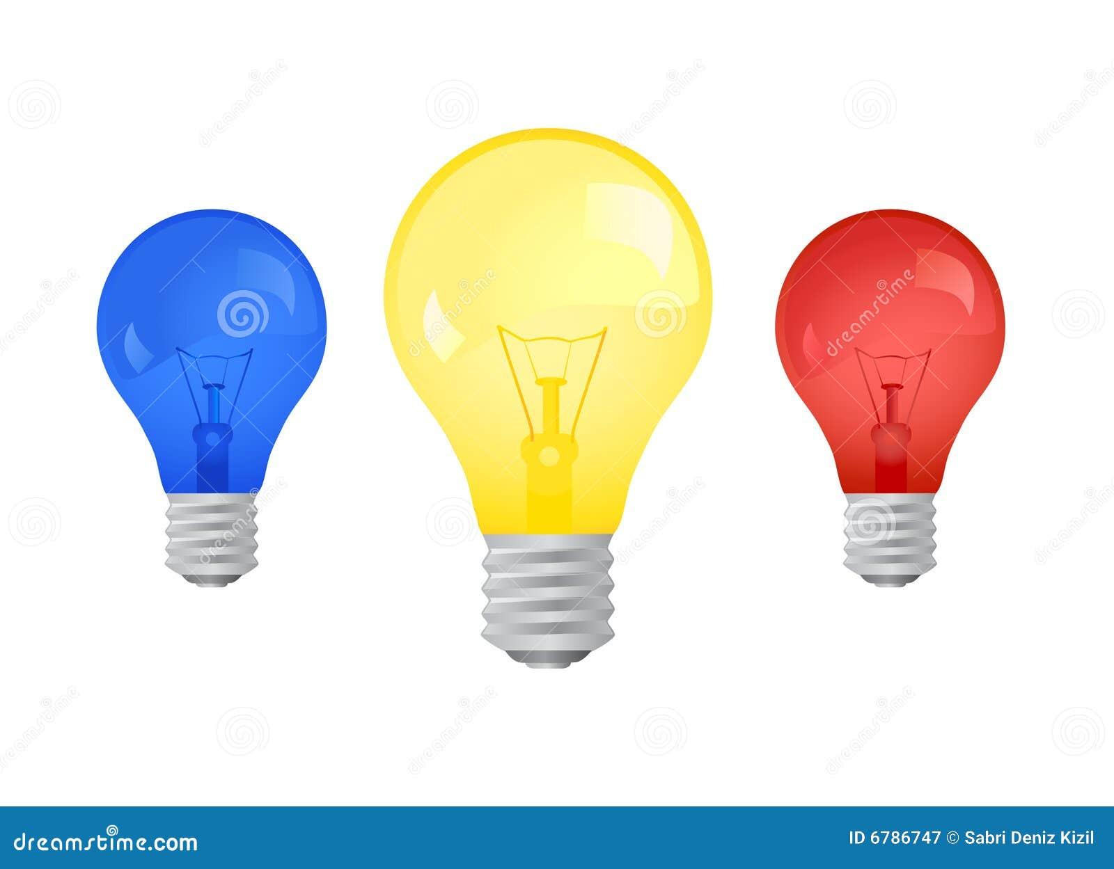 light bulb vector stock vector illustration of colors 6786747. Black Bedroom Furniture Sets. Home Design Ideas