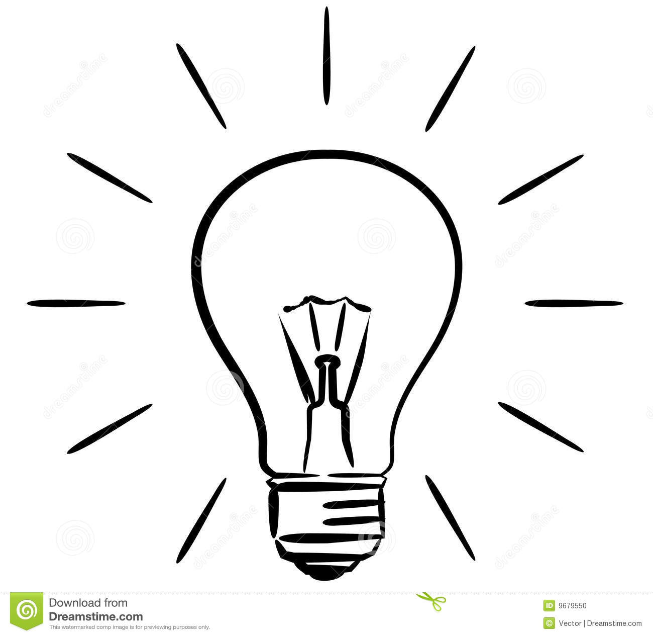 Stock Photo Light Bulb Vector Illustration Image9679550 on simple car illustrations
