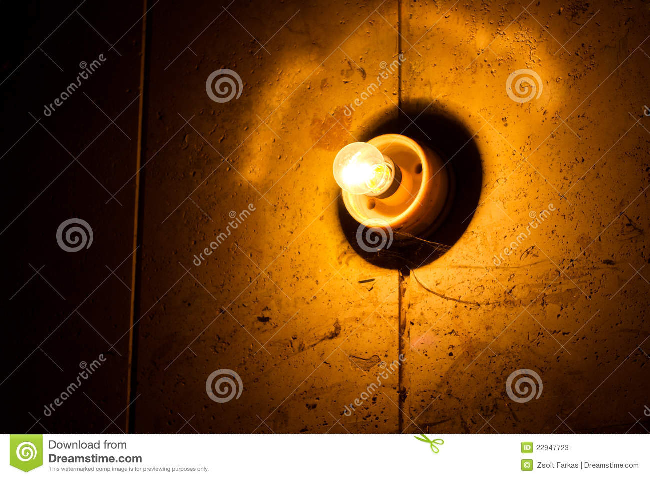 Light bulb on wall stock image image of decoration historical download light bulb on wall stock image image of decoration historical 22947723 aloadofball Images