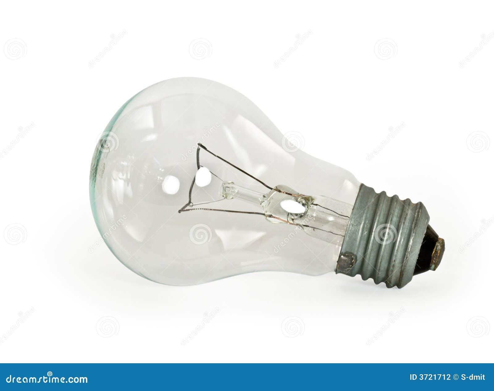 Light Bulb On White Background Stock Photography Image 3721712