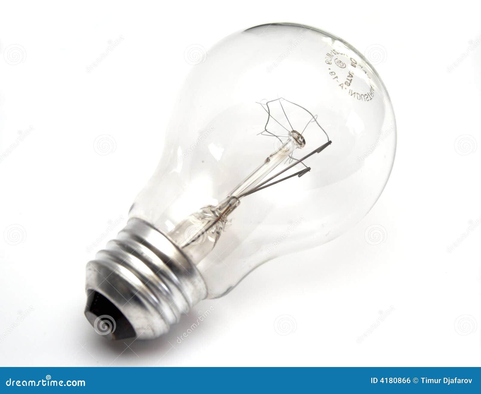 Light Bulb At White Background Royalty Free Stock Image Image 4180866