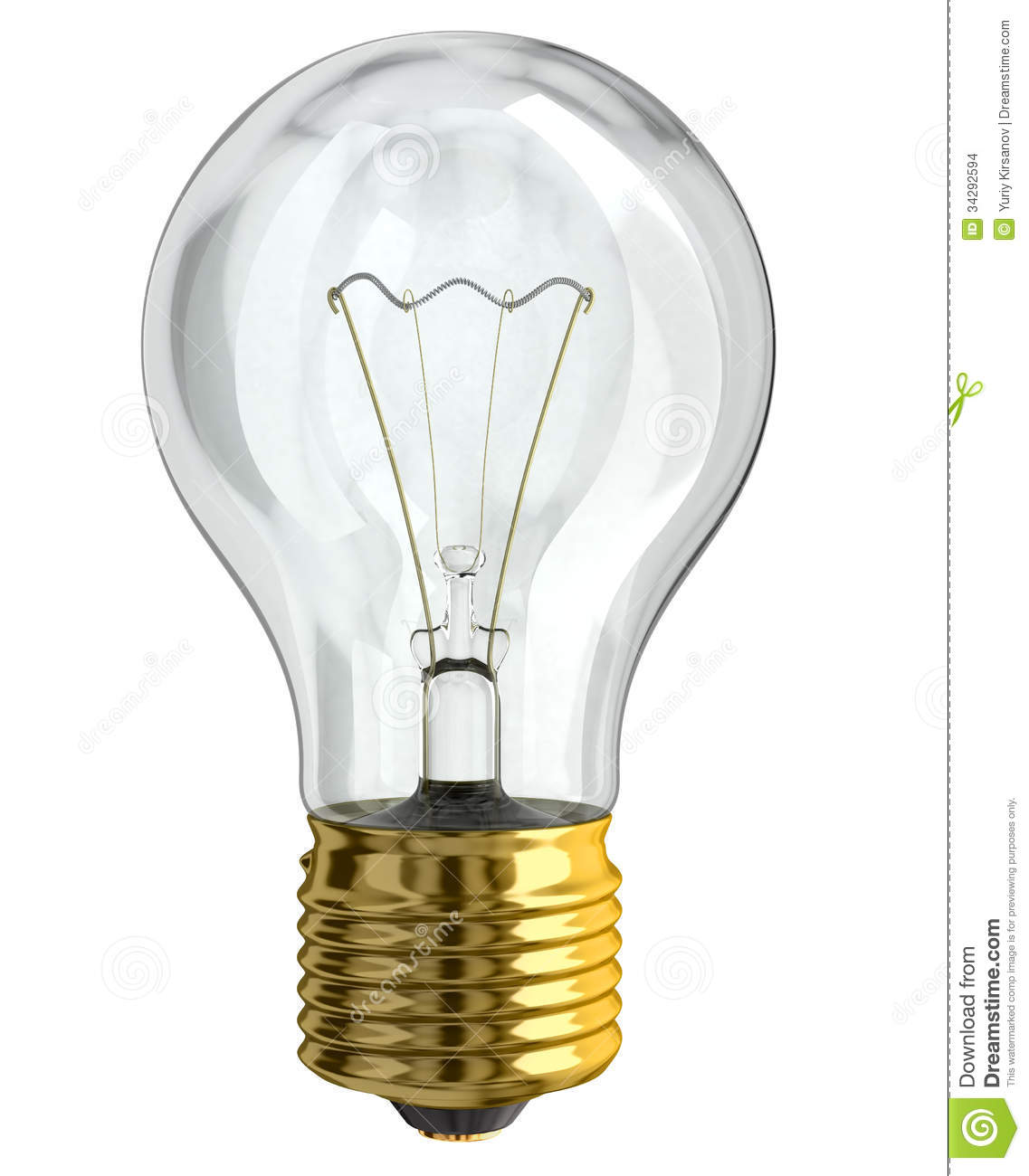 Light Bulb Stock Images Image 34292594