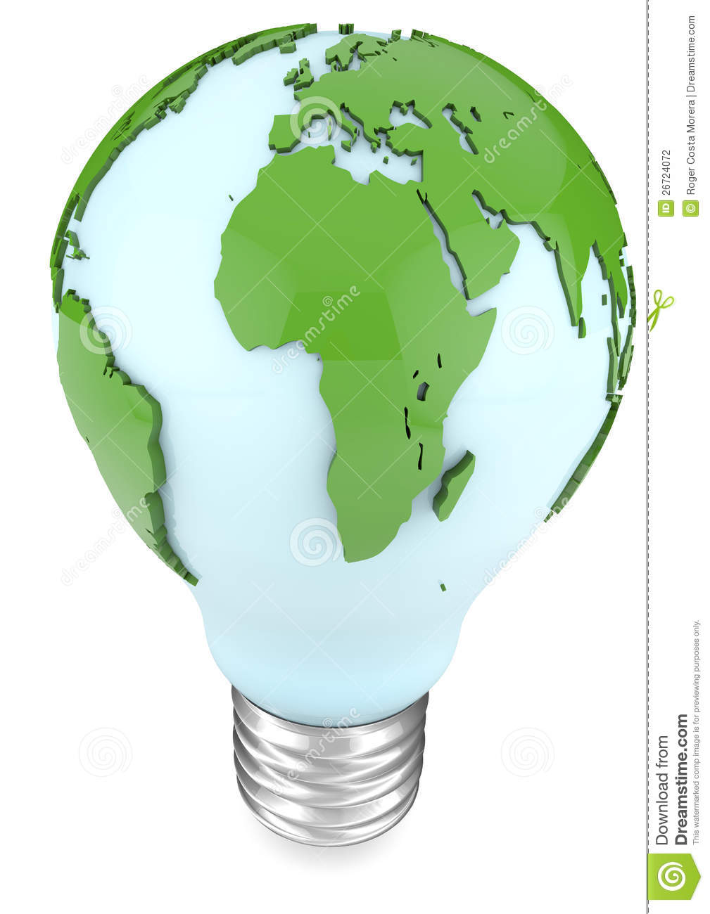 World In A Bulb Light bulb and world map
