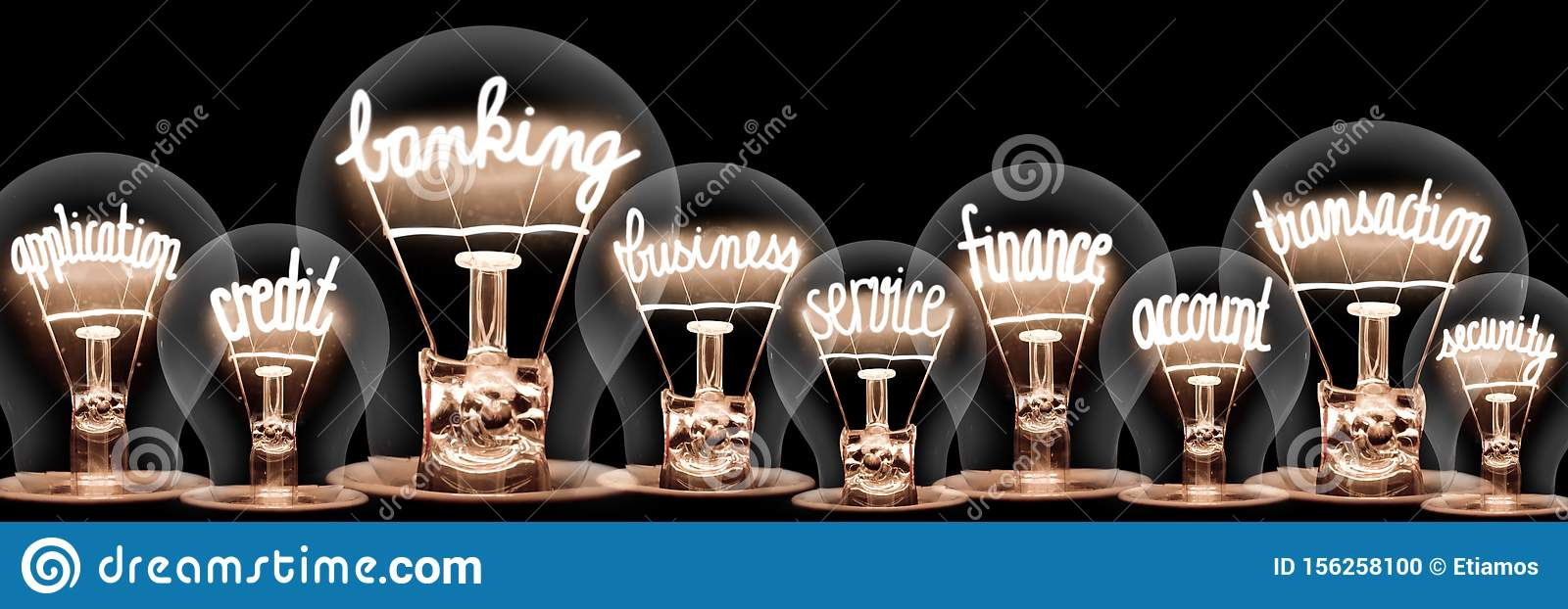 Light Bulbs with Banking Concept