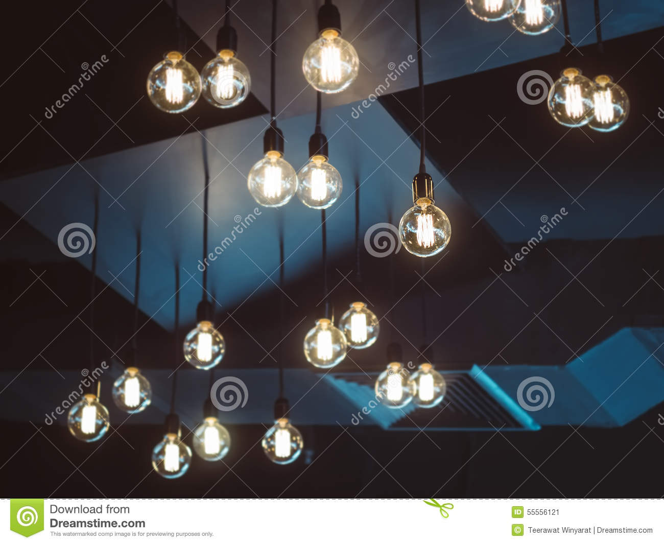 Light bulbs decoration interior object stock photo image 55556121 - Object design eigentijds ontwerp ...