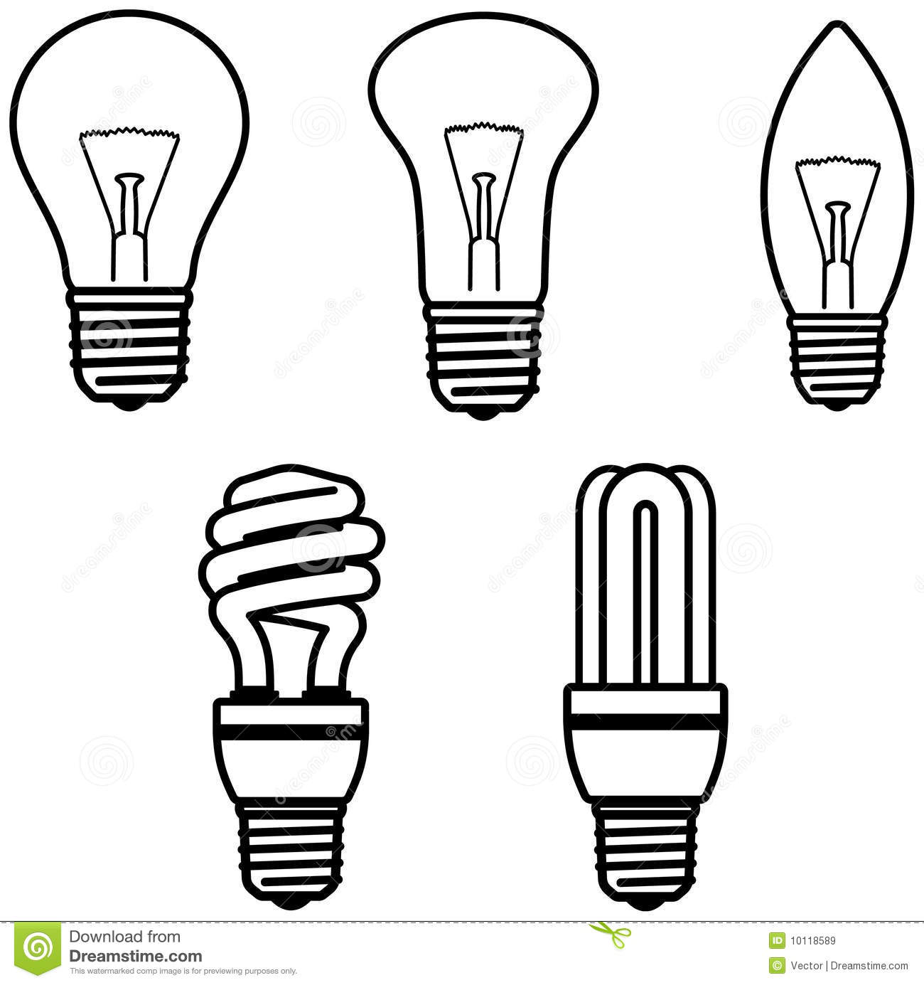 light bulbs  u2013 vector illustration royalty free stock