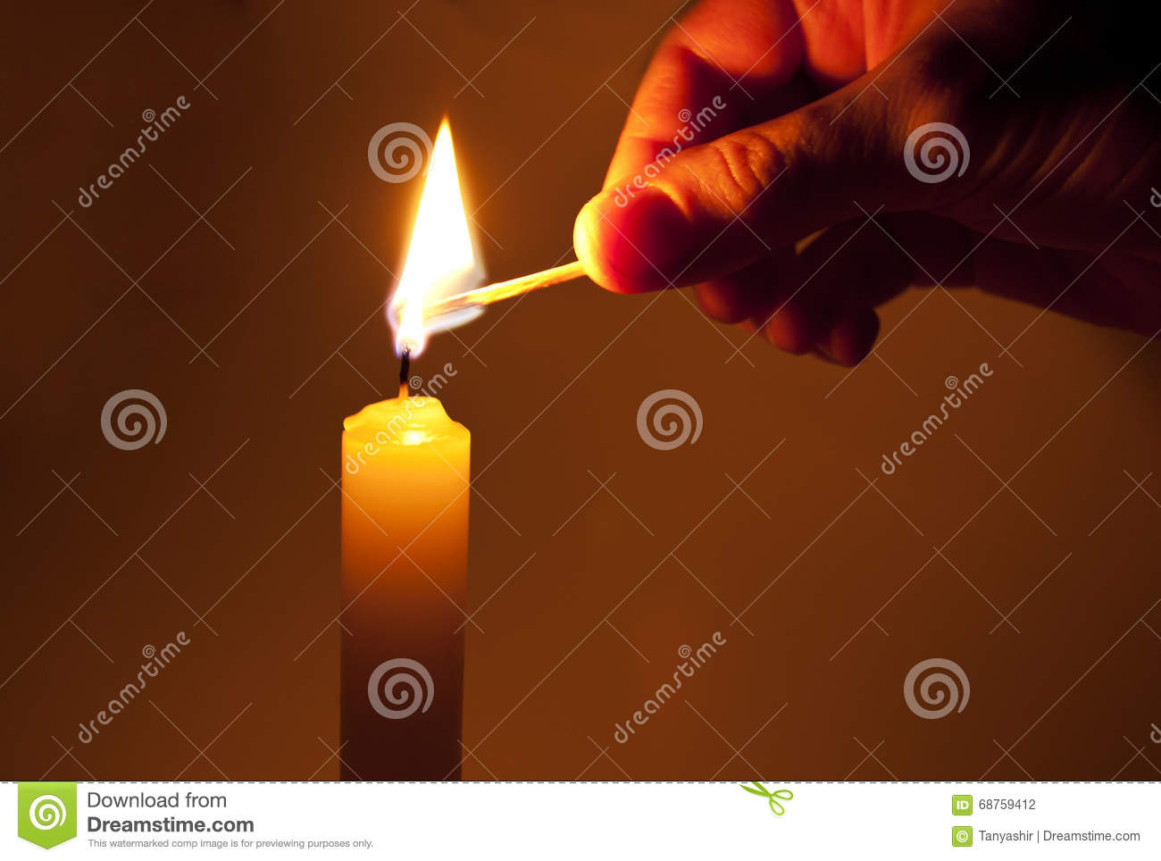 Download Light a candle stock photo. Image of candle, burn, memorial - 68759412
