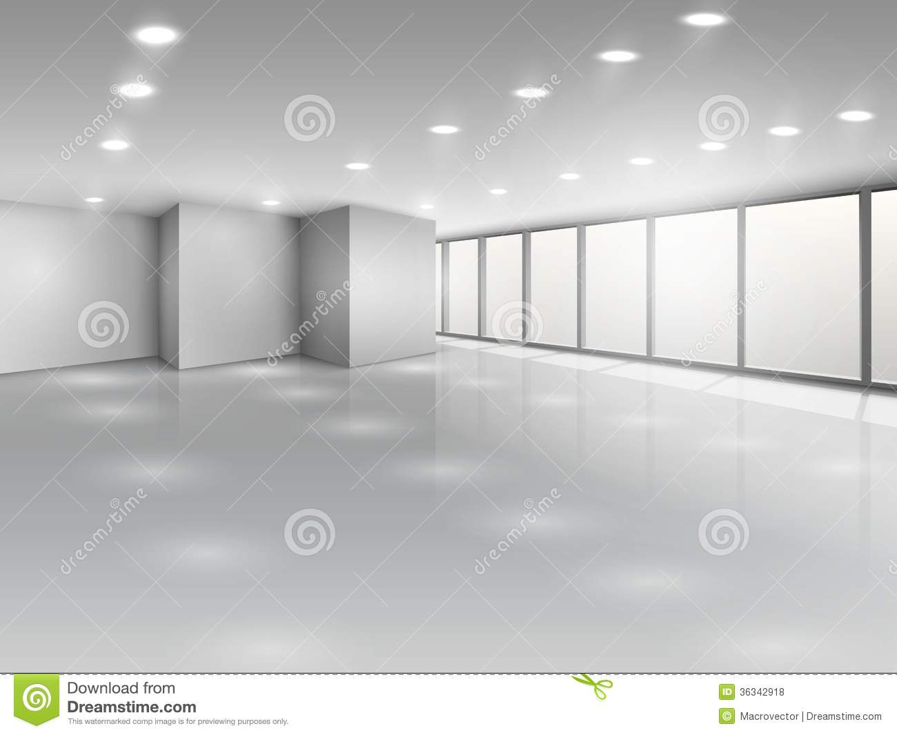 Light Conference Room Or Office Open Space Royalty Free