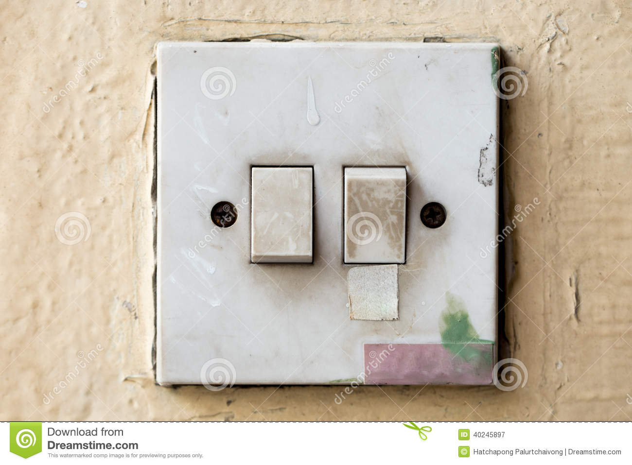 Light control switch stock image. Image of down, industrial - 40245897