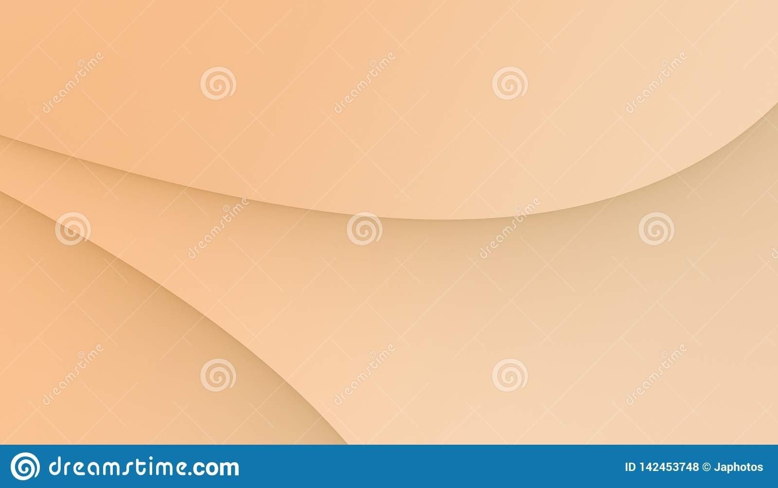 Light coral peach smooth curves abstract business background wallpaper illustration