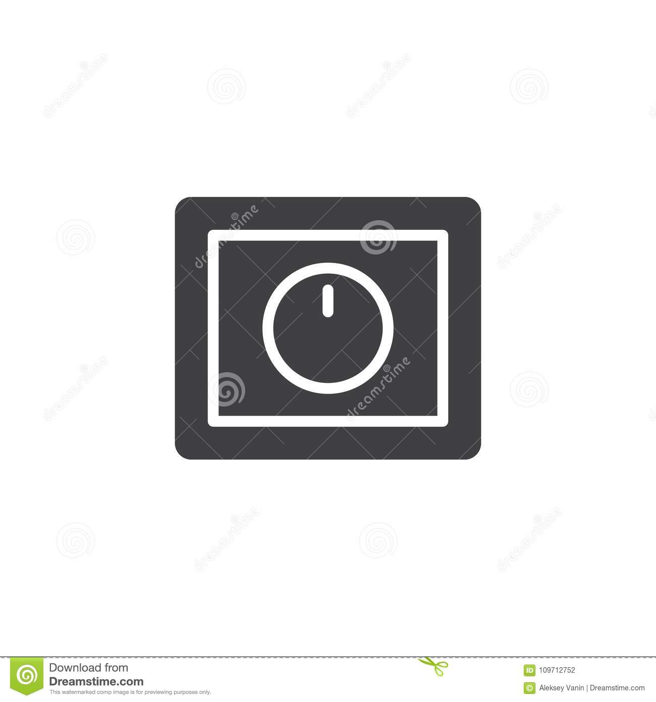 Light Dimmer Switch Icon Vector Stock Vector - Illustration of ...