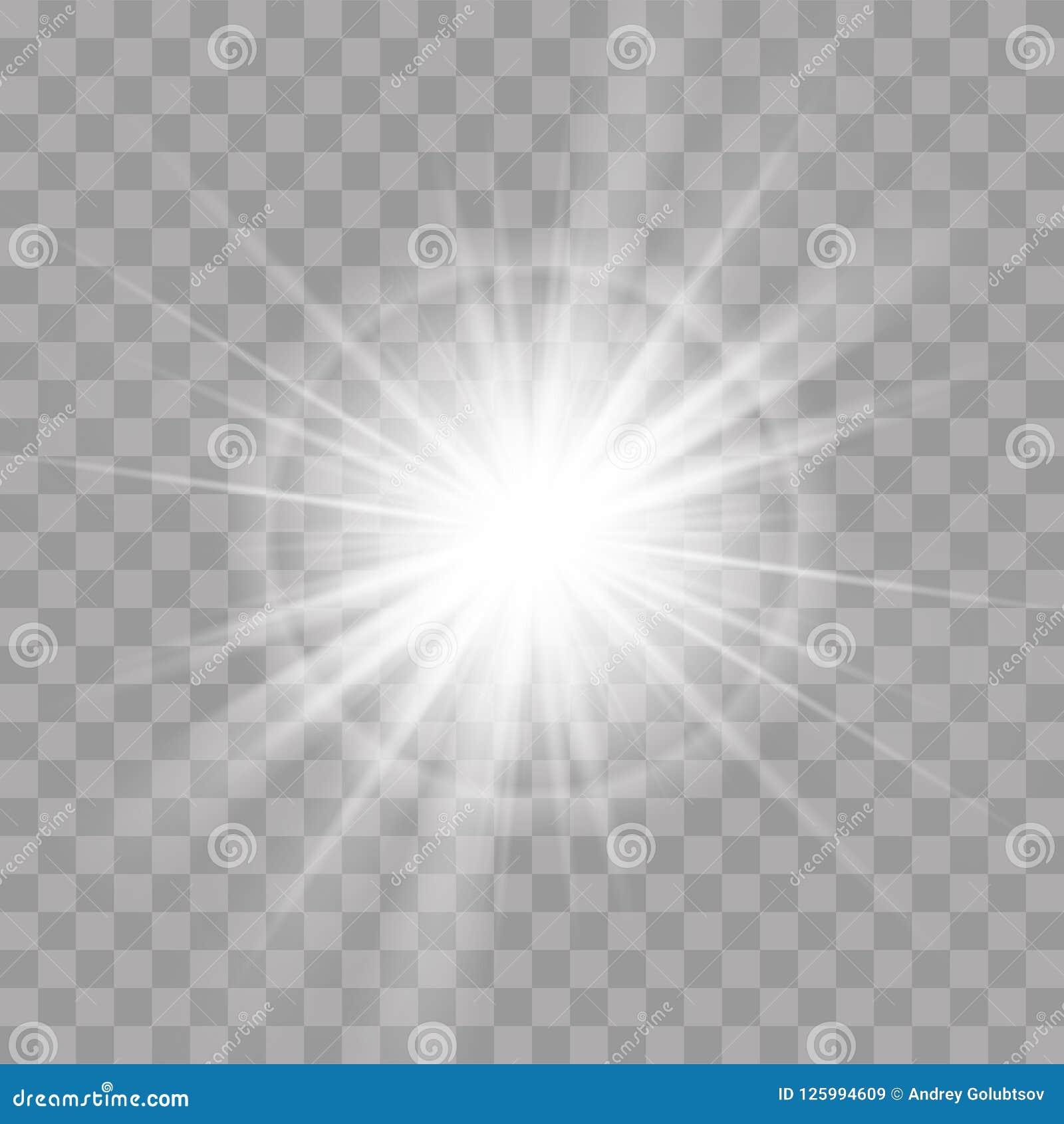 Light rays flash sun star radiance shine effect