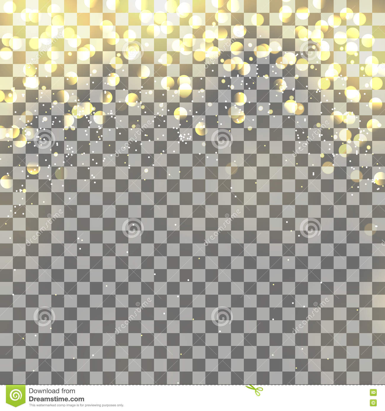 Light Effects On Transparent Background Stock Vector