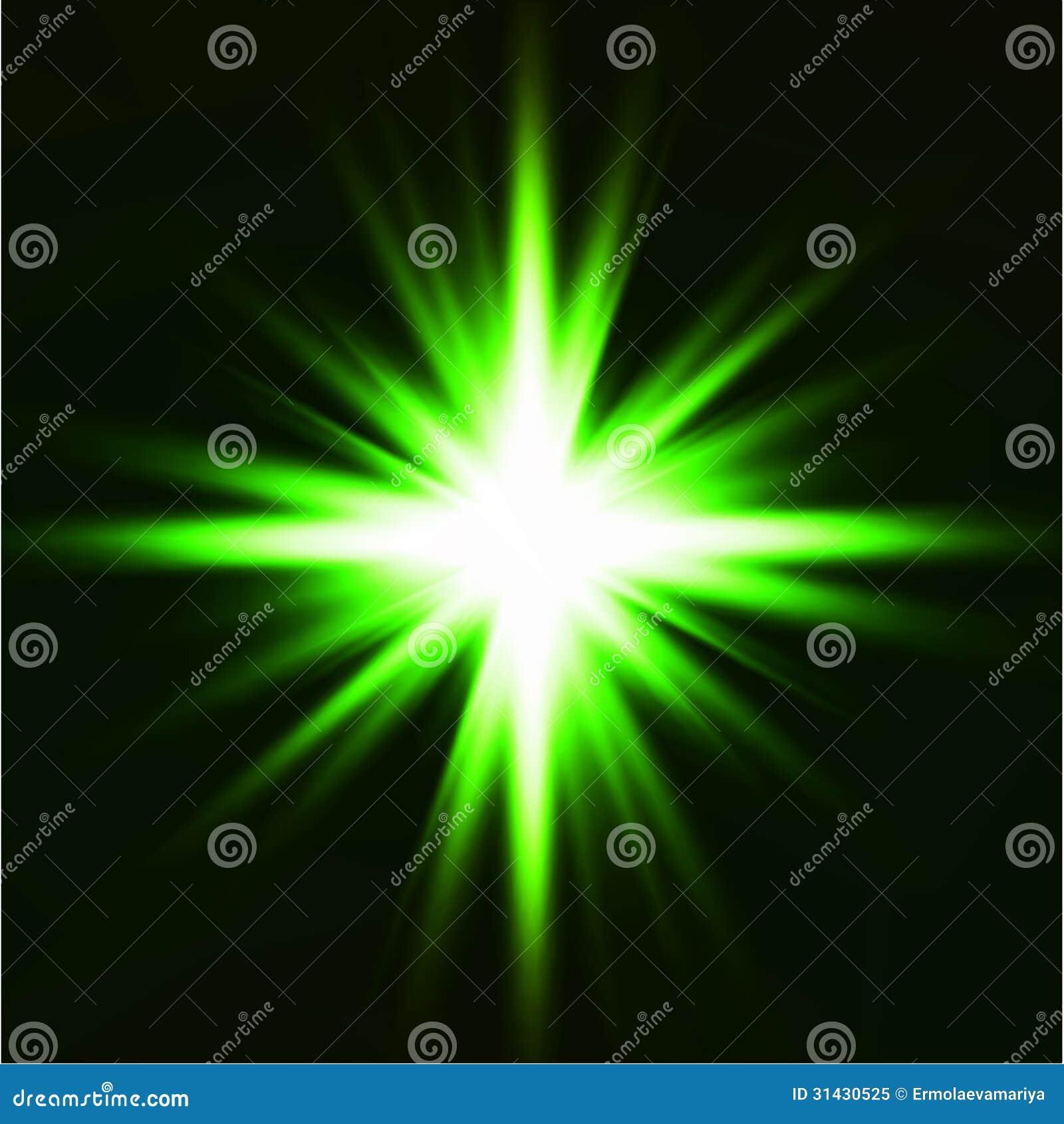 Light Flare Green Effect. Vector Stock Vector - Illustration of ... for Green Light Effects Background  156eri