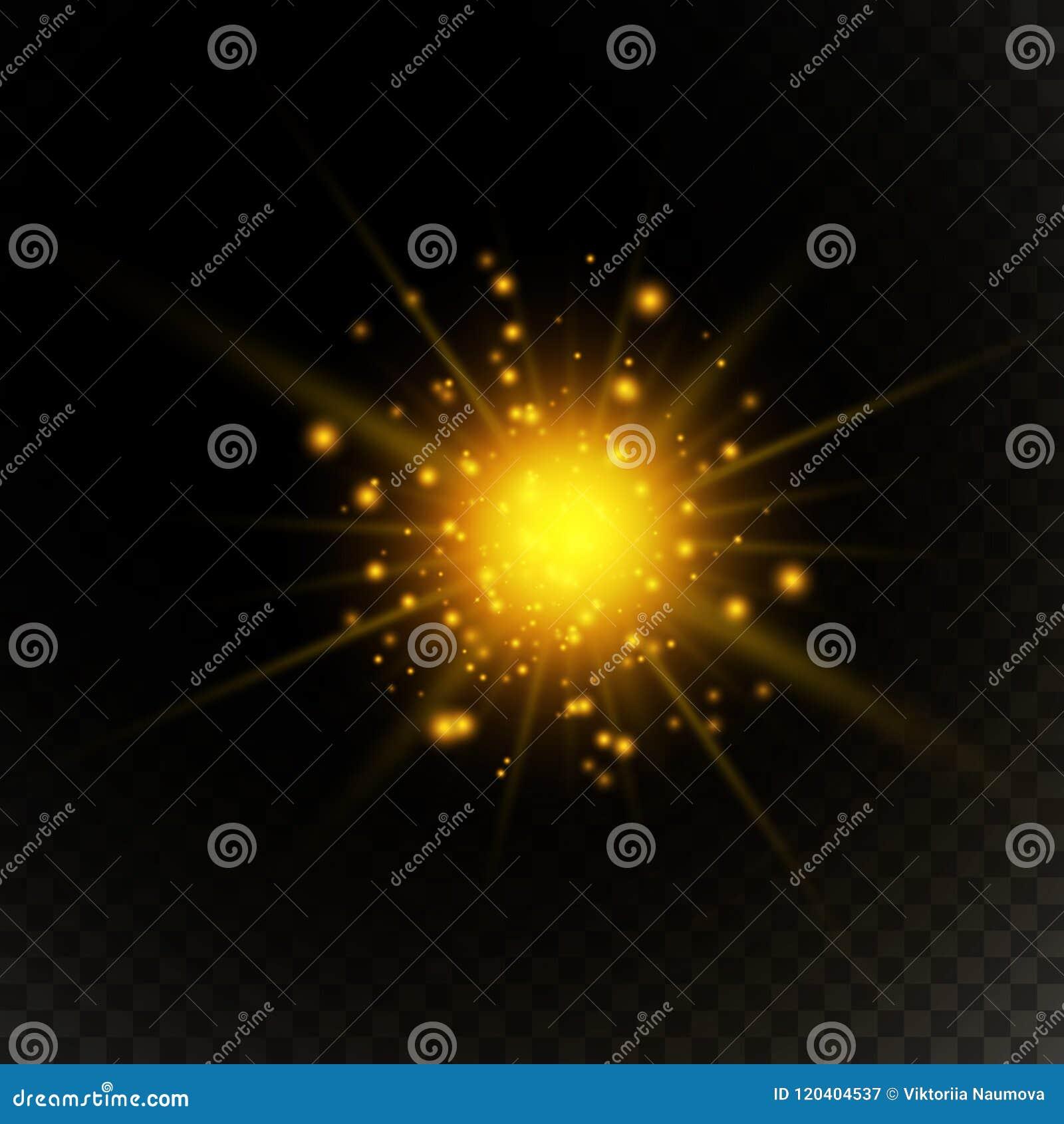 Light Gold Flare Special Effect  Vector Illustration Stock Vector