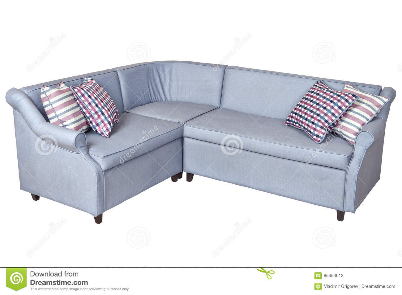 Picture of: Light Gray Corner Fold Out Upholstered In Fabric Sofa Bed Isol Stock Image Image Of Modern Small 85453013
