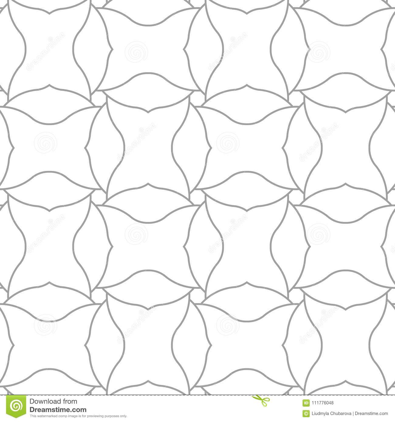 Light gray geometric print. Seamless pattern