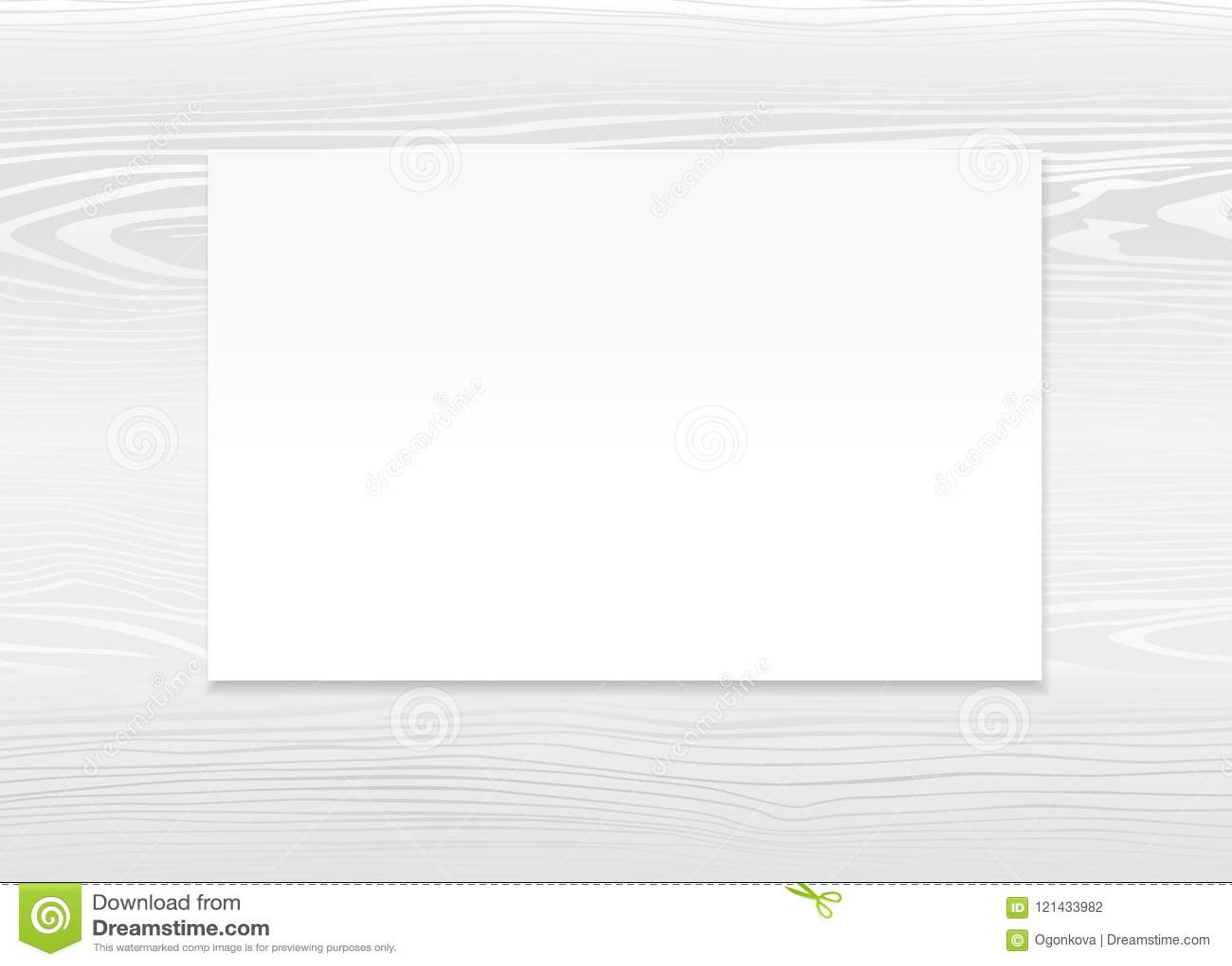 Blank Postcard Template  Vector Mockup Design Of Empty White