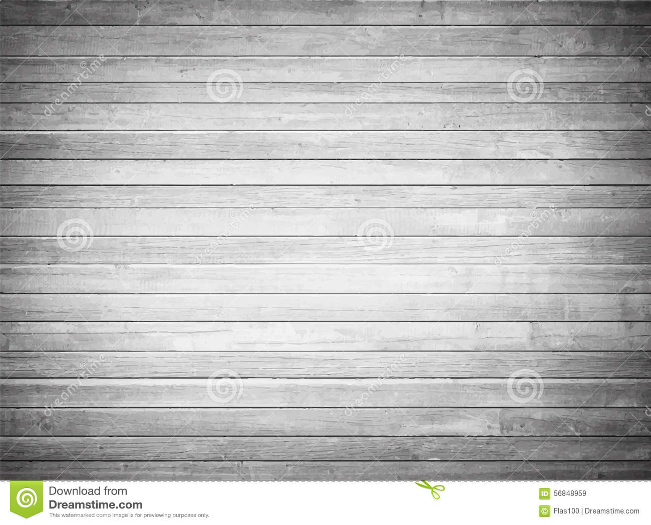 Light Gray Wooden Texture With Horizontal Planks Stock