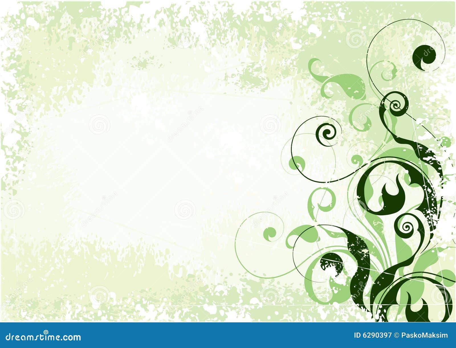 Light Green Floral Background Stock Vector Illustration 6290397