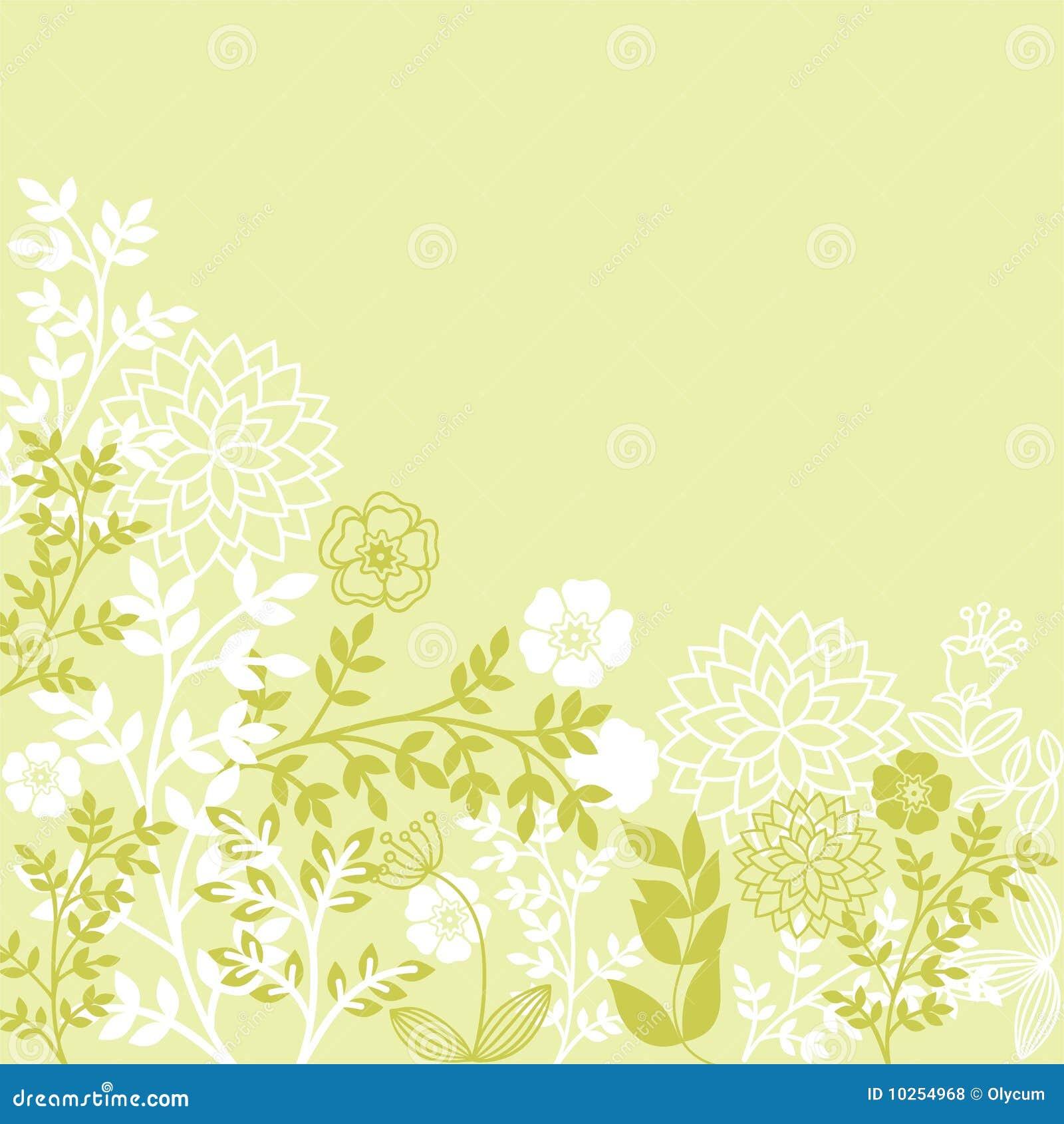 Light Green Floral Patterns Stock Vector