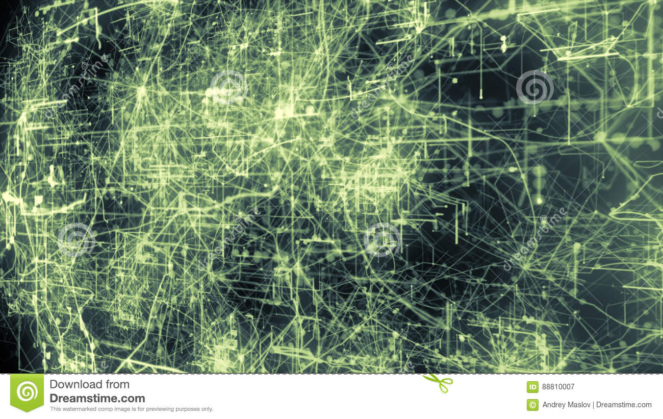 Light Green Lines Drawn By Bright Spots Eventually Create An How To Make Electronic Circuit Boards Abstract Image Of A Board It May Represent Connections Communication