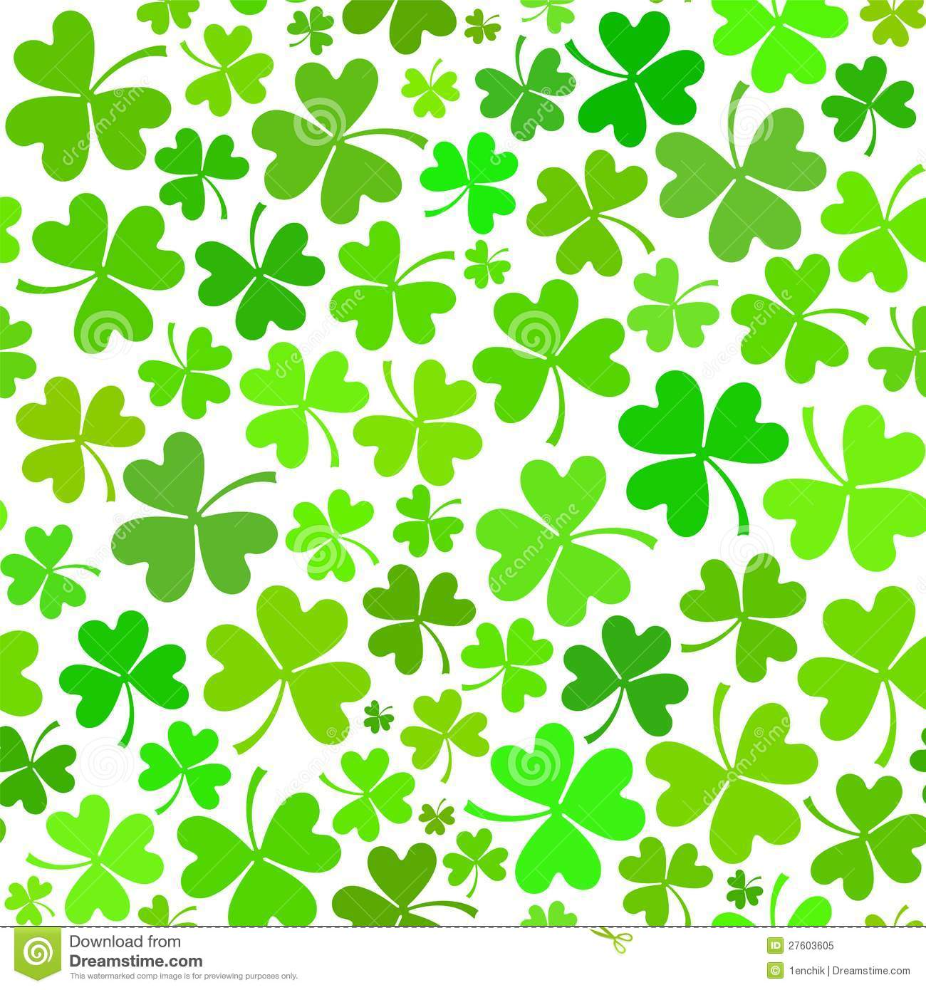 Light Green Seamless Clover Pattern Royalty Free Stock Photo - Image ...