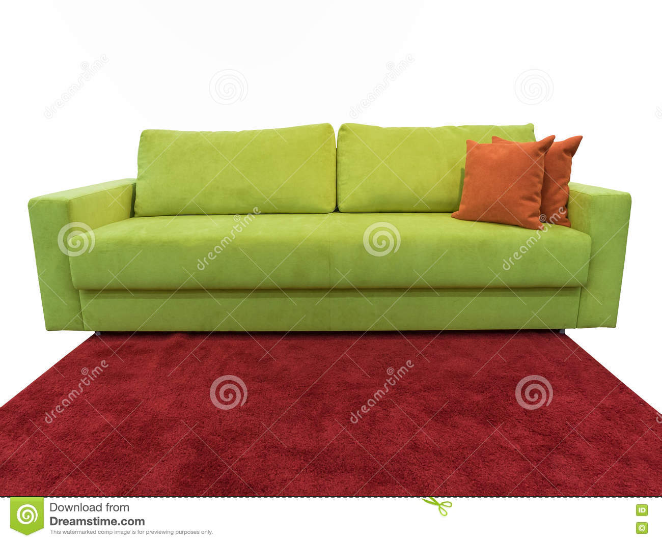 light green sofa with pillows stock image image of furnishing rh dreamstime com