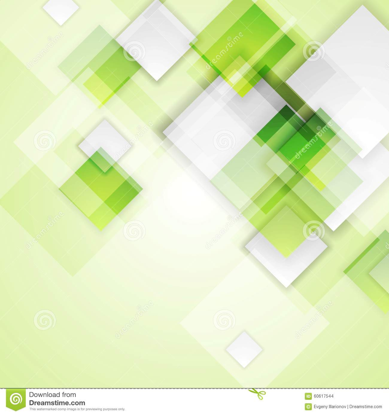 Light Green Squares Abstract Vector Background Stock Vector