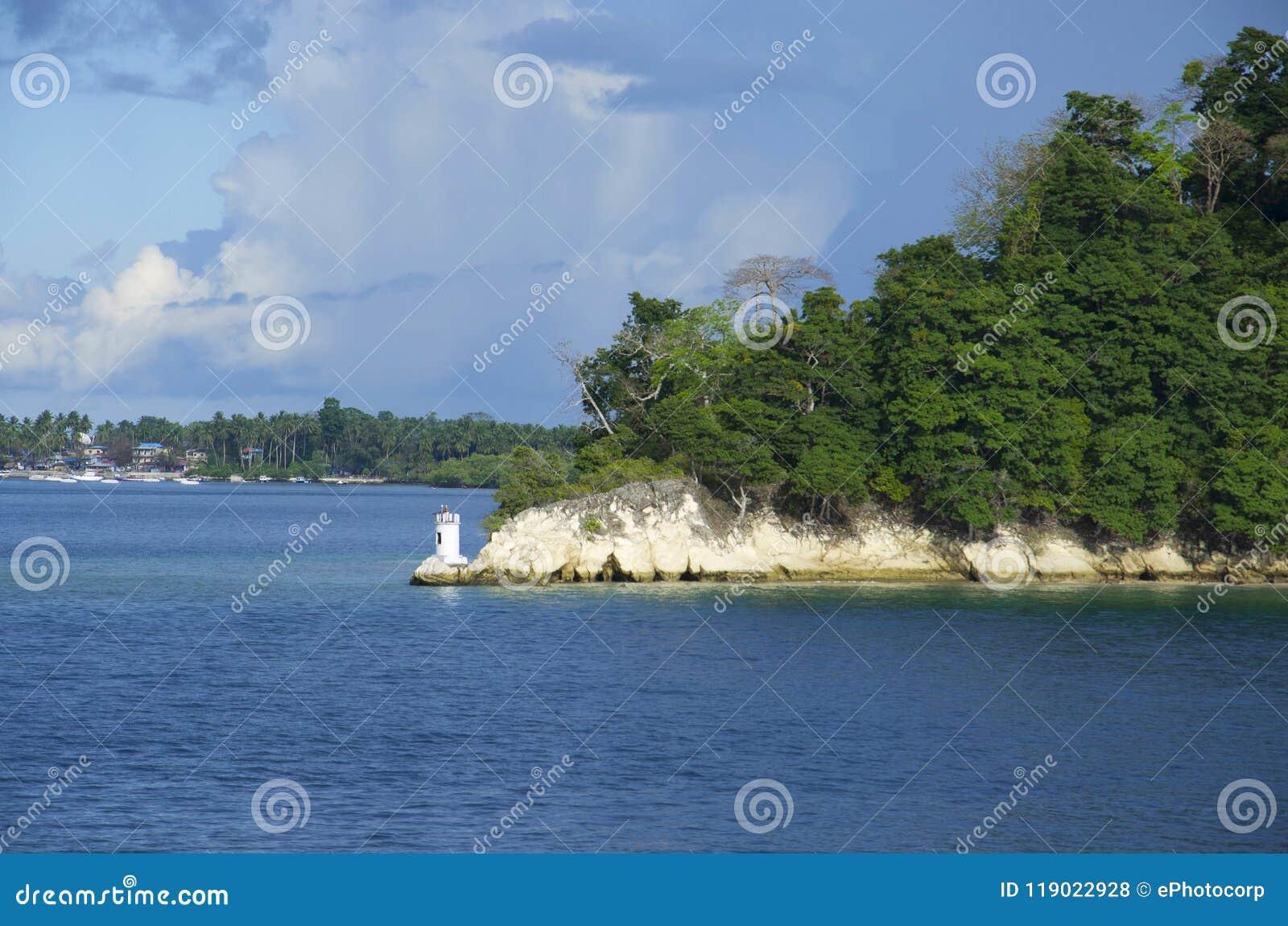 The light house of Havelock Island, Port Blair, Andaman and Nicobar Islands